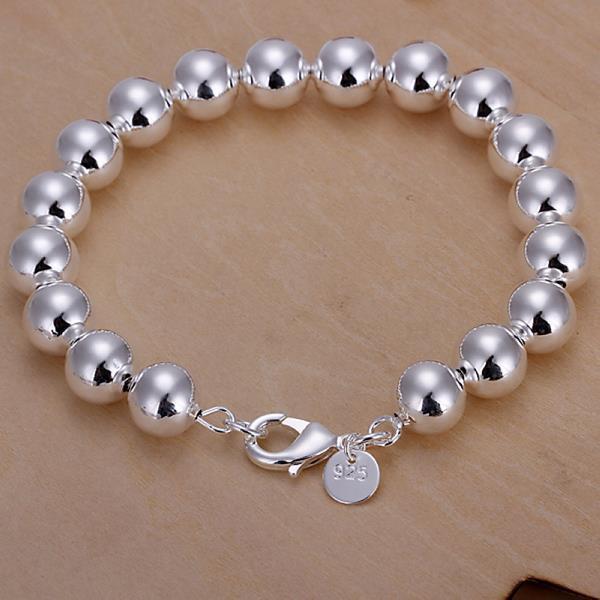 Vienna Jewelry Sterling Silver Mid Size Pearl Bracelet