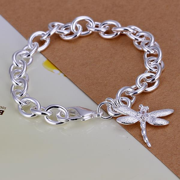 Vienna Jewelry Sterling Silver Petite Butterfly Bracelet - Thumbnail 0