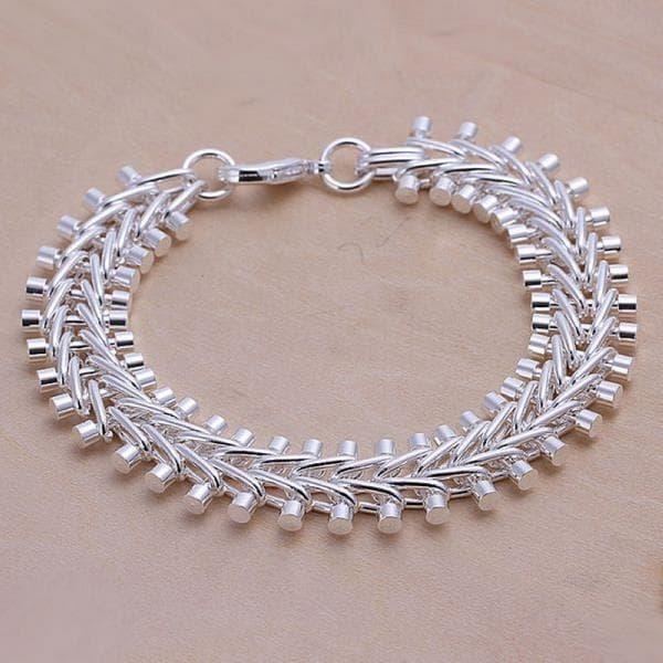 Vienna Jewelry Sterling Silver Multi-Beaded Bracelet