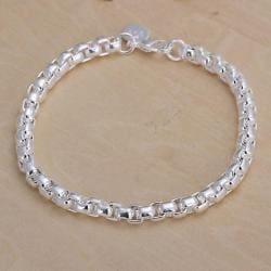 Vienna Jewelry Sterling Silver Petite Chain Bracelet - Thumbnail 0
