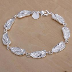Vienna Jewelry Sterling Silver Walk In The Beach Bracelet - Thumbnail 0