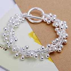 Vienna Jewelry Sterling Silver Multi Pearl Orchid Bracelet - Thumbnail 0