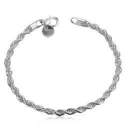 Vienna Jewelry Sterling Silver Petite Intertwined Modern Bracelet - Thumbnail 0