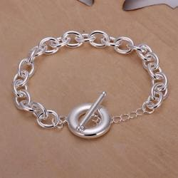 Vienna Jewelry Sterling Silver Clasp Closure Bracelet - Thumbnail 0
