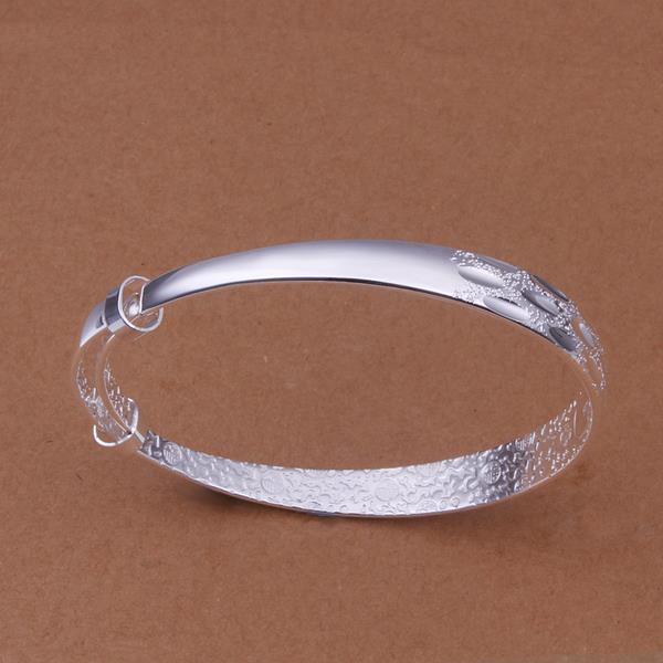 Vienna Jewelry Sterling Silver Multi Lined Open Bangle