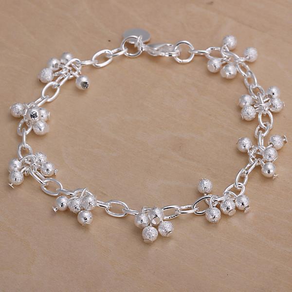 Vienna Jewelry Sterling Silver Multi Pearl Orchid Bracelet