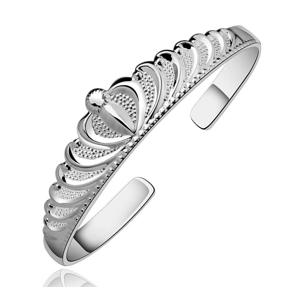 Sterling Silver Princess Inspired Open Bangle