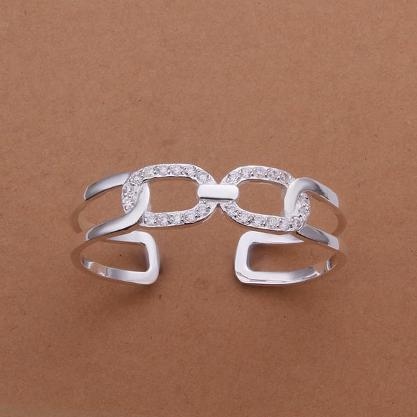 Vienna Jewelry Sterling Silver Multi-Chain Lock Bangle