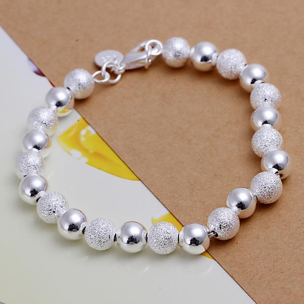Vienna Jewelry Sterling Silver Duo-Bead Bracelet