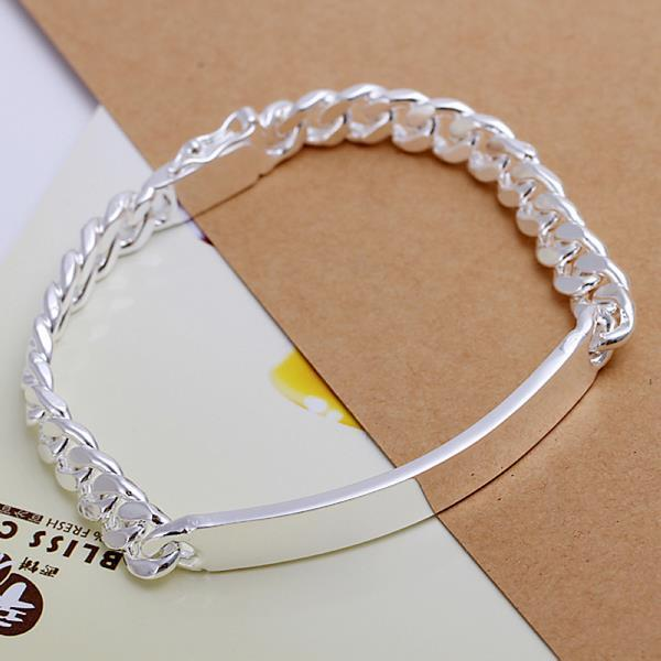 Vienna Jewelry Sterling Silver Classic Plated Emblem Bracelet