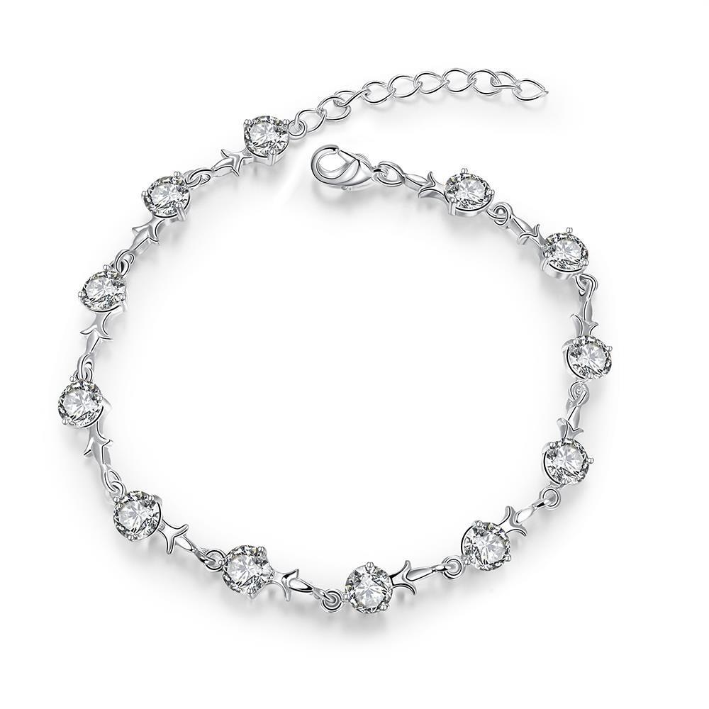 Vienna Jewelry Sterling Silver Petite Emblem Bracelet