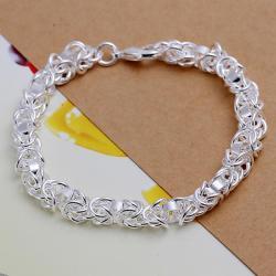 Vienna Jewelry Sterling Silver Multi-Chain Interlocked Closure Bracelet - Thumbnail 0