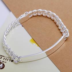 Vienna Jewelry Sterling Silver Classic Plated Emblem Bracelet - Thumbnail 0