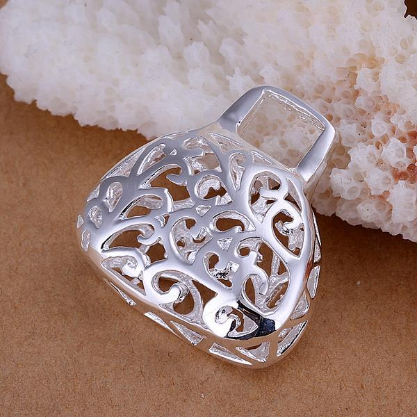 Vienna Jewelry Sterling Silver Laser Cut Abstract Pendant