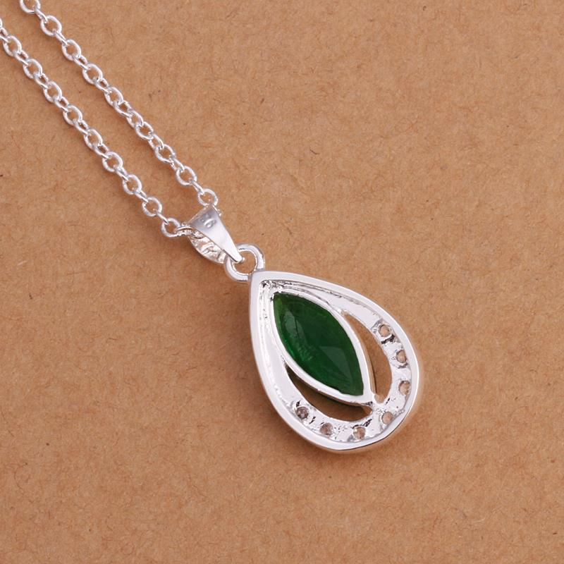 Vienna Jewelry Sterling Silver Emerald Emblem Pendant