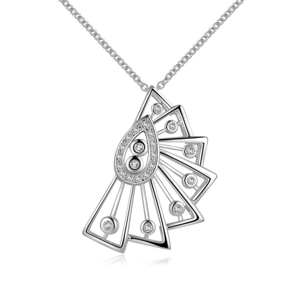 Vienna Jewelry Sterling Silver Swirl Emblem Pendant Necklace