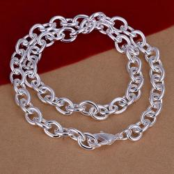 Vienna Jewelry Sterling Silver Connecting Interlock Necklace - Thumbnail 0
