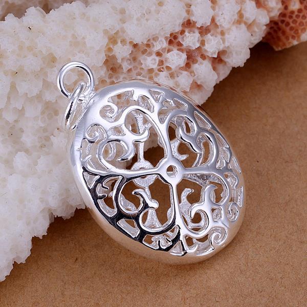 Vienna Jewelry Sterling Silver Circular Laser Cut Pendant