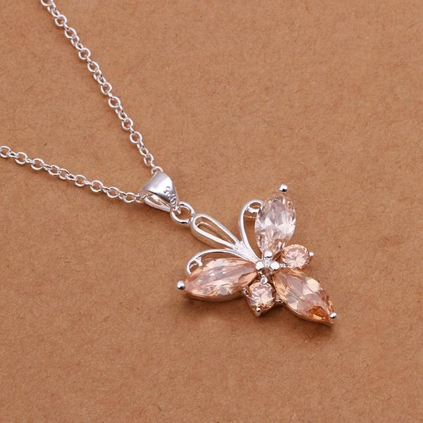 Vienna Jewelry Sterling Silver Multi Orange Citrine Drop Necklace