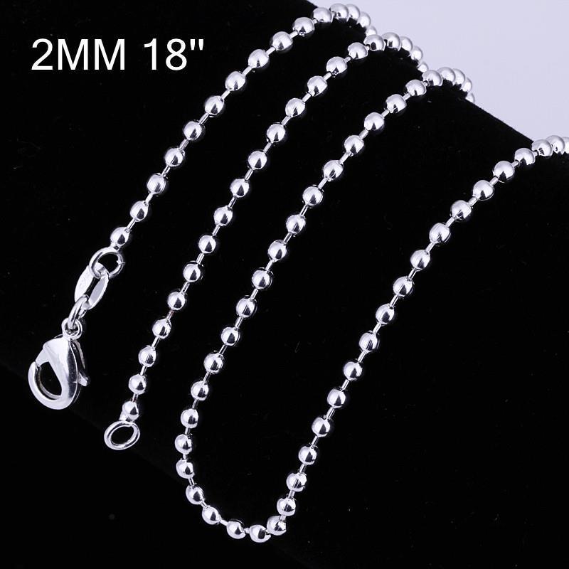 Vienna Jewelry Sterling Silver Modern Beaded Chain Necklace