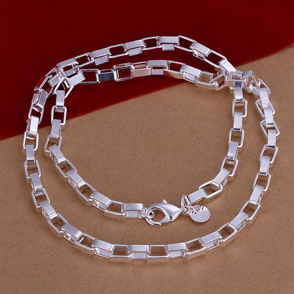Vienna Jewelry Sterling Silver Multi Interlocking Necklace
