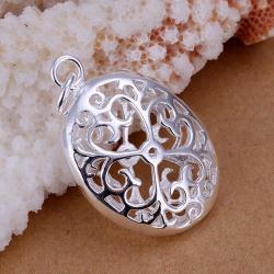 Vienna Jewelry Sterling Silver Circular Laser Cut Pendant - Thumbnail 0