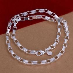 Vienna Jewelry Sterling Silver Multi Interlocking Necklace - Thumbnail 0