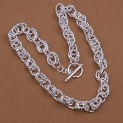 Vienna Jewelry Sterling Silver Multi Chain Open Clasp Necklace - Thumbnail 0