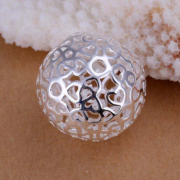 Vienna Jewelry Sterling Silver Petite Laser Cut Crystal Pendant