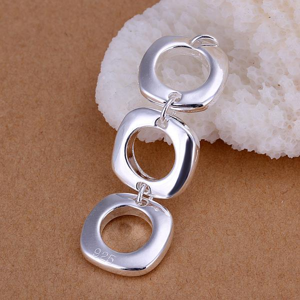 Vienna Jewelry Sterling Silver Trio-Circular Pendant