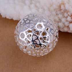Vienna Jewelry Sterling Silver Petite Laser Cut Crystal Pendant - Thumbnail 0