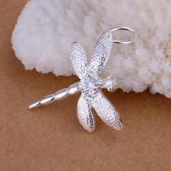 Vienna Jewelry Sterling Silver Petite Butterfly Pendant - Thumbnail 0