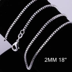 Vienna Jewelry Sterling Silver Classic Chain Necklace - Thumbnail 0