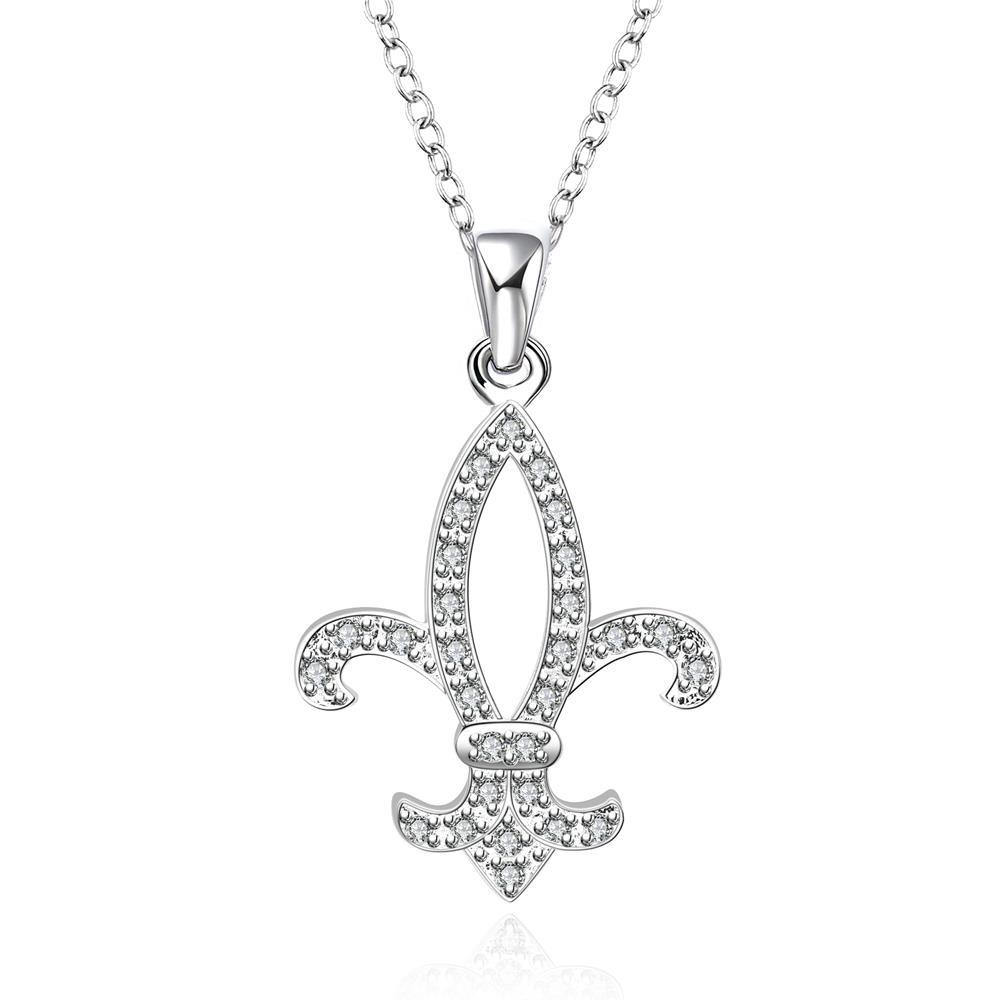 Vienna Jewelry Sterling Silver Petite Saint Emblem Necklace