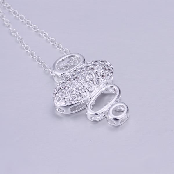 Vienna Jewelry Sterling Silver Hollow Quad Pendant