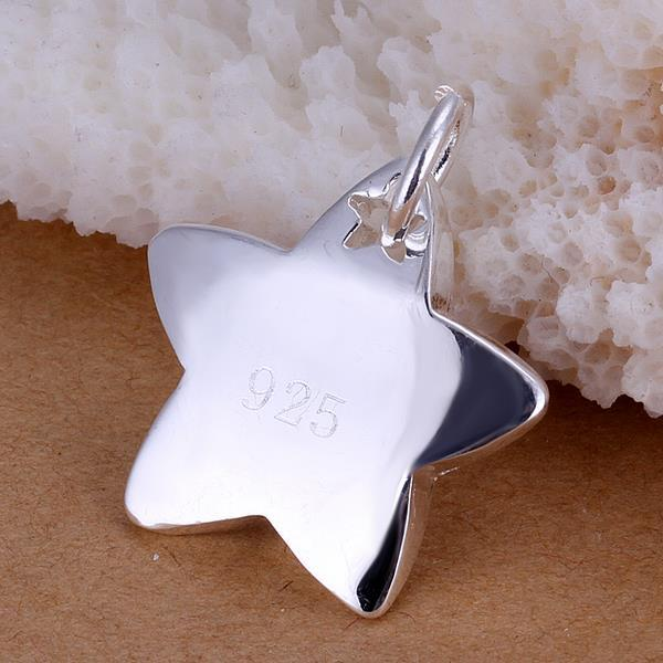 Vienna Jewelry Sterling Silver Classic Star Pendant