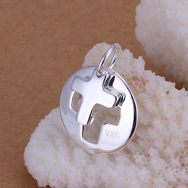 Vienna Jewelry Sterling Silver Cross Charm Pendant