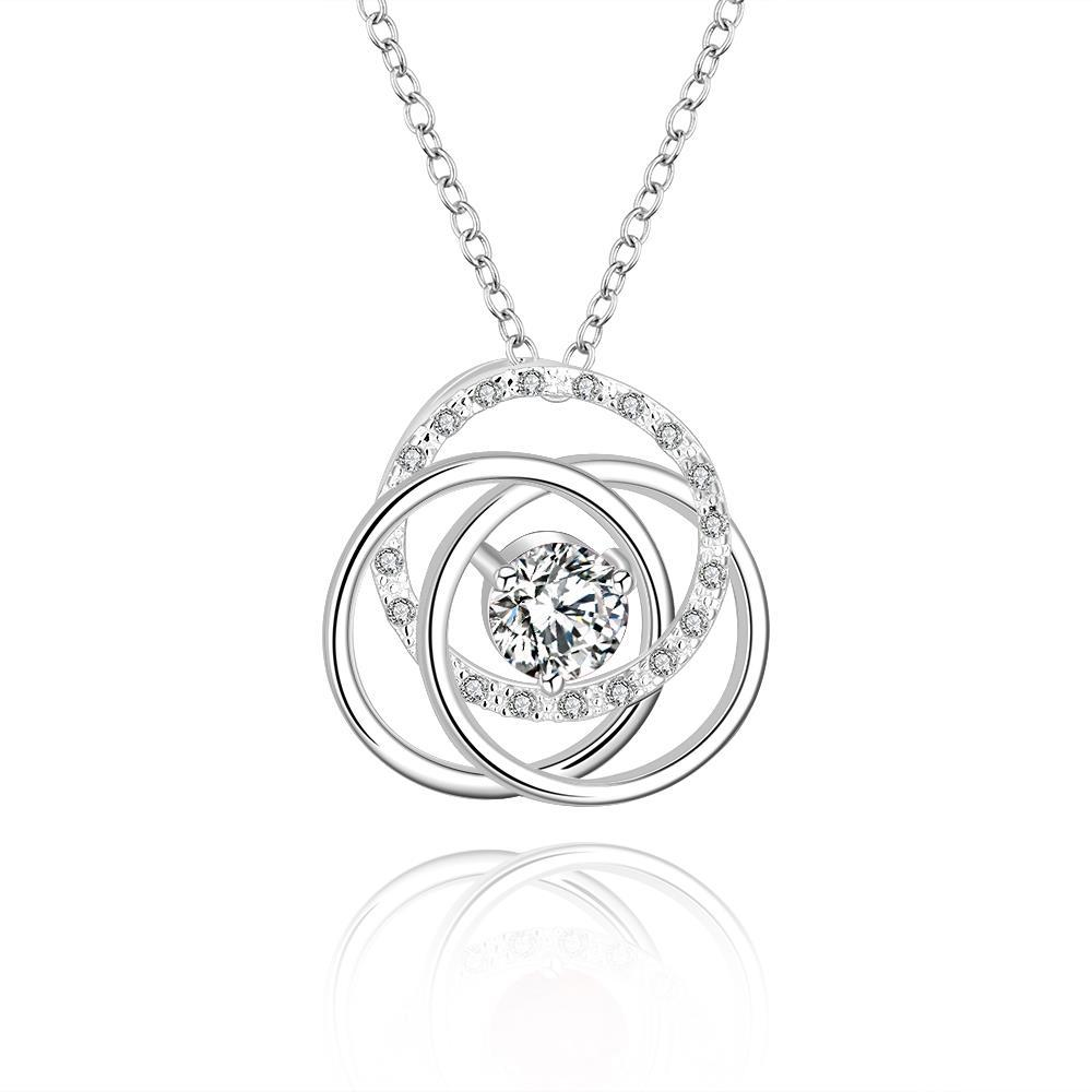 Vienna Jewelry Sterling Silver Multi Curved Pendant Necklace