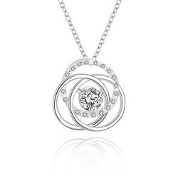 Vienna Jewelry Sterling Silver Multi Curved Pendant Necklace - Thumbnail 0
