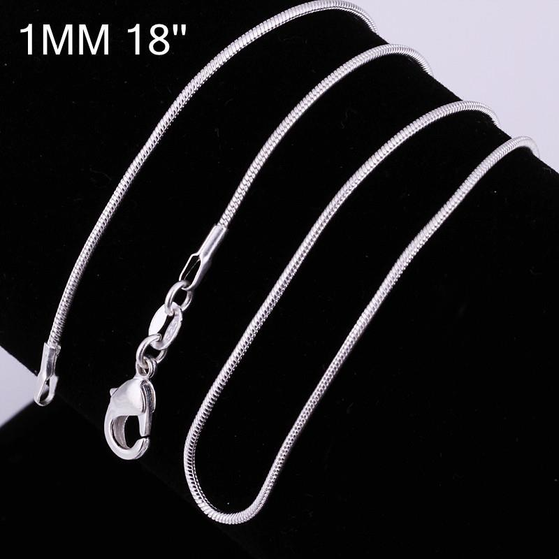 Vienna Jewelry Sterling Silver Modern Snake Design Chain Necklace