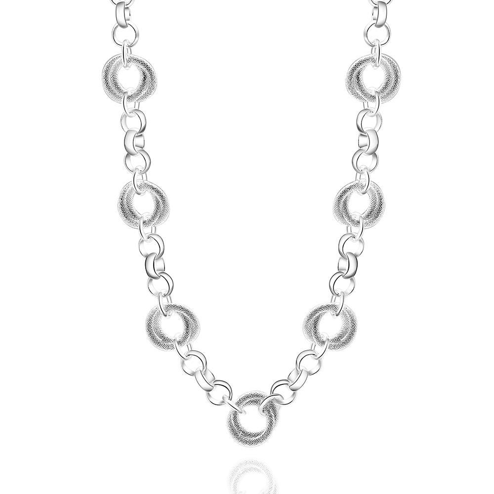 Vienna Jewelry Sterling Silver Petite Dangling Circular Necklace