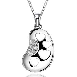 Vienna Jewelry Sterling Silver Laser Cut Heart Insert Drop Necklace - Thumbnail 0