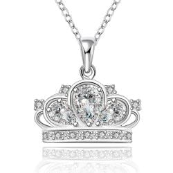 Vienna Jewelry Sterling Silver Jewels Covering King's Crown Pendant Necklace - Thumbnail 0