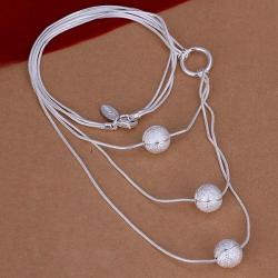 Vienna Jewelry Sterling Silver Trio-Pearl Dangling Drop Necklace - Thumbnail 0