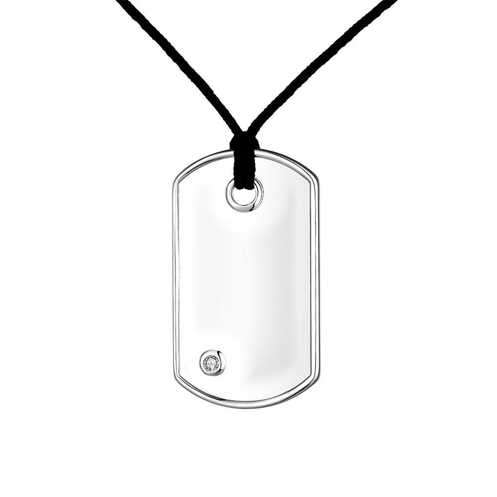 Vienna Jewelry Sterling Silver Modern Japanese Dogtag Necklace