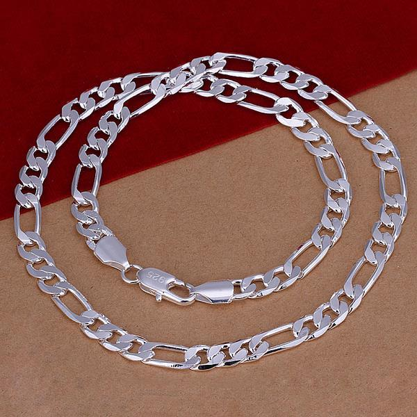 Vienna Jewelry Sterling Silver Thin Lay Chain Necklace