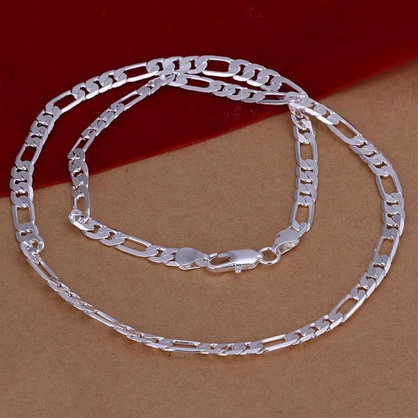 Vienna Jewelry Sterling Silver Thin Classic Chain Necklace