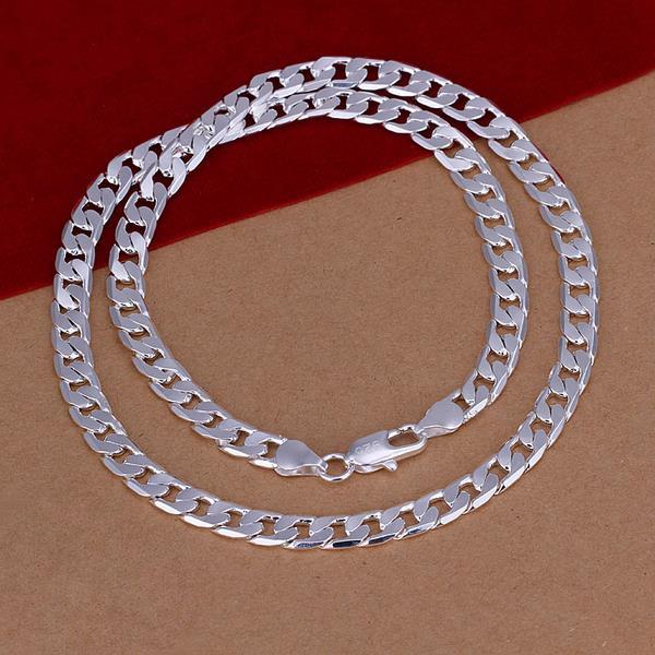 Vienna Jewelry Sterling Silver London Inspired Classic Necklace