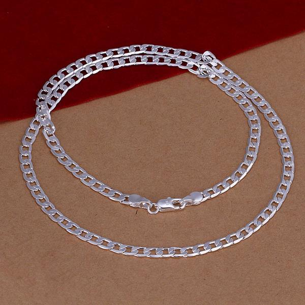 Vienna Jewelry Sterling Silver Thin Paris Inspired Necklace