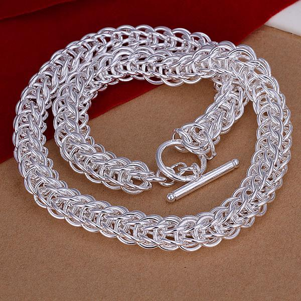 Vienna Jewelry Sterling Silver Thick Circular Chain Necklace